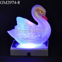 Handblown goose animal LED glass crafts
