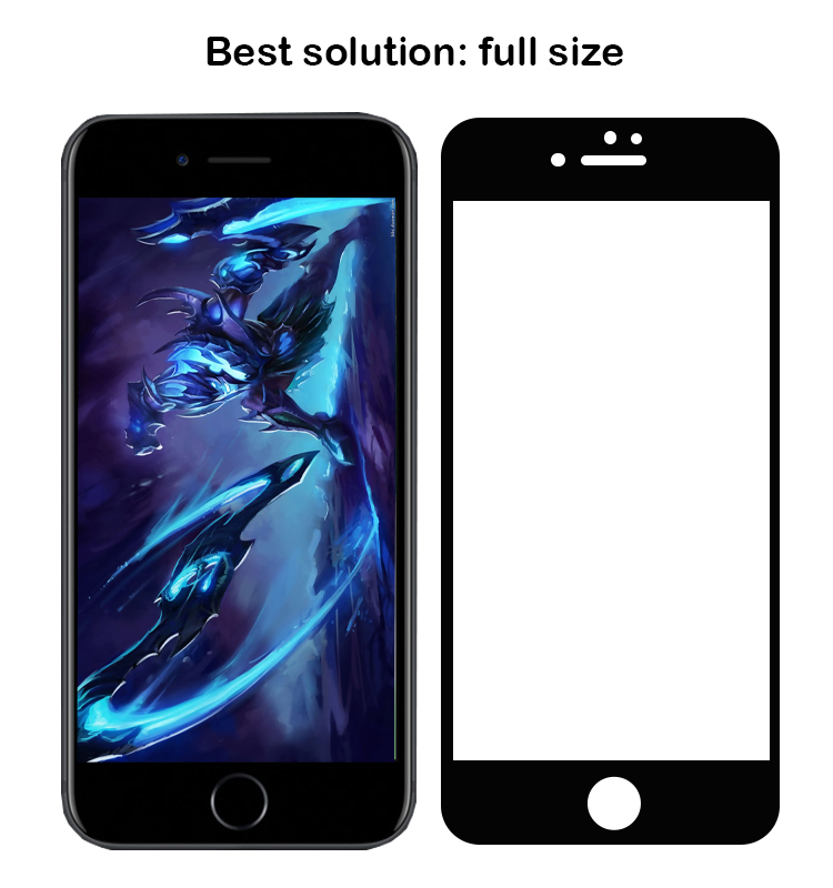 Full coverage full adhesive curved 3D 4D 5D Cold Carving Tempered Glass Screen Protector for iPhone 8 8+