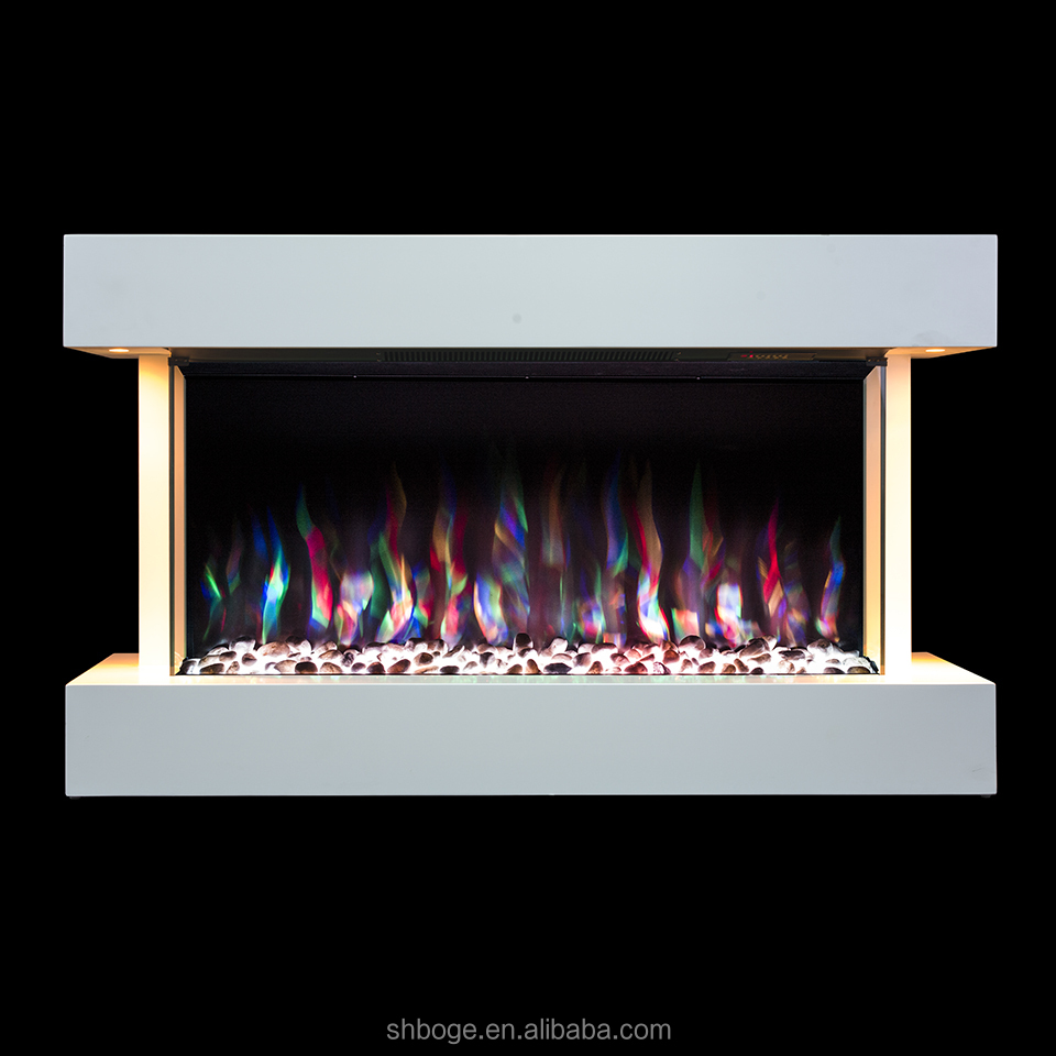 Modern Flame Decorative White Mdf Mantel Electric Fireplace