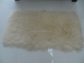 Whole Tibetan Mongolian Long Curly Lamb Fur Rug Hair Plate