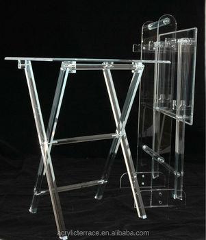 Acrylic Hotel Serving Tray On Stand HA14030101044 Acrylic Serving Tray Vanity  Tray Table