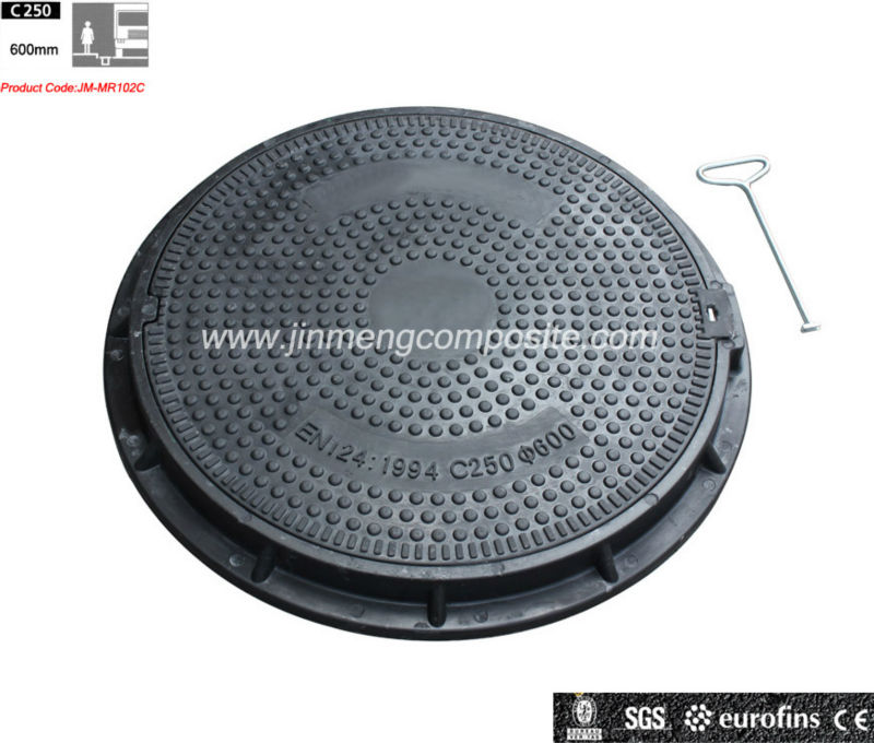 BS EN124 C250 Jinmeng brand smc material for manhole cover SGS