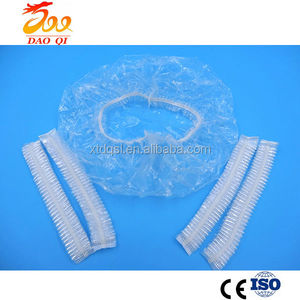 Newest design high quality pe disposable waterproof shower bath cap