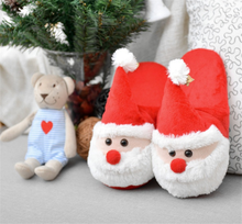 Children Ladies 3D Christmas Novelty Slippers With Grips Snowman Velvet Christmas Slippers