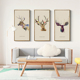 Creative deer head American wood decorative painting for bar mural clothing store decorations creative living room animal mural