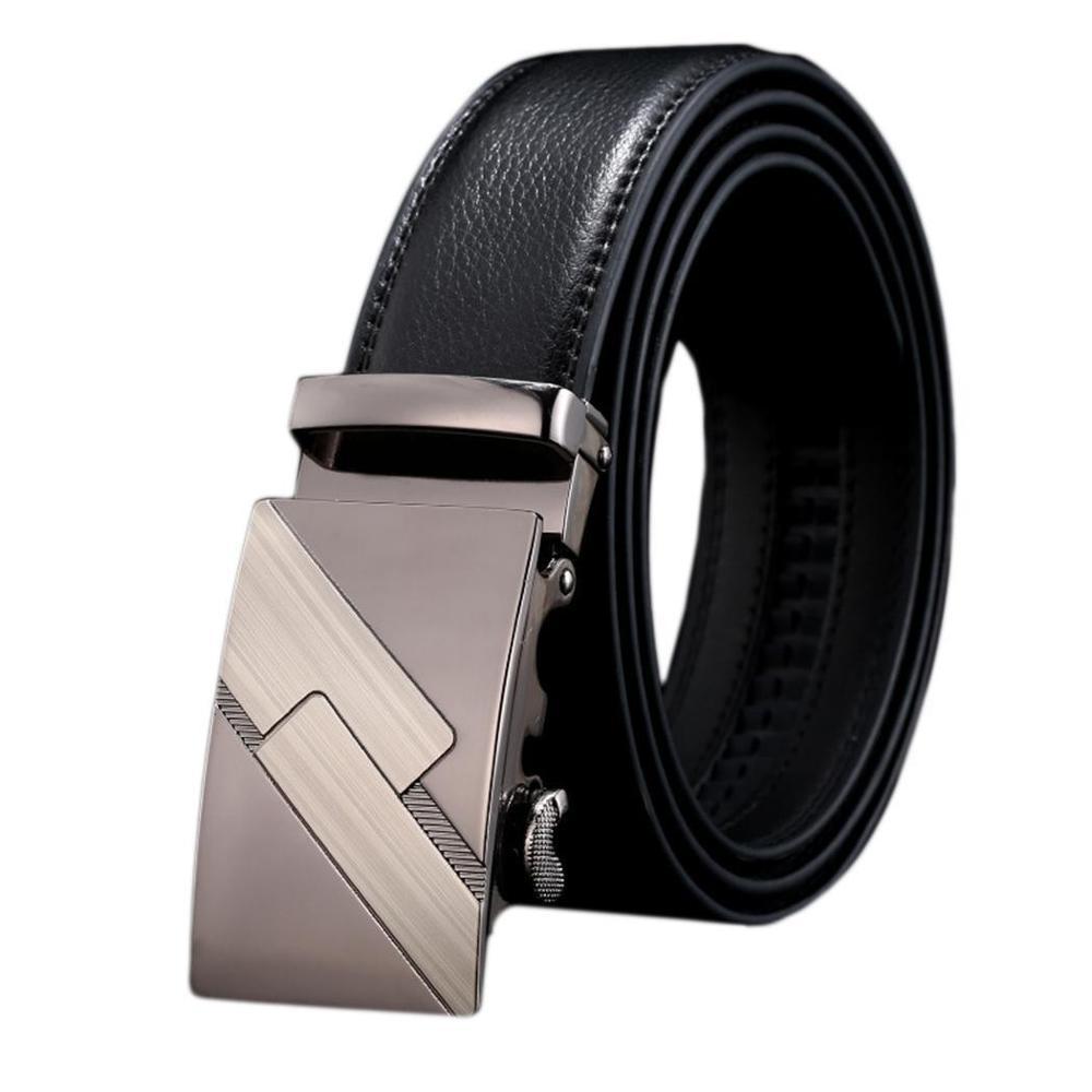 Khaki Reversible Belt for Men 49.21inch Men/'s Genuine Leather Dress Belt