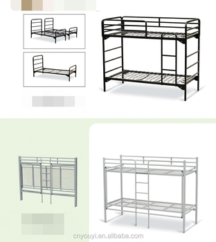 Hot Sale Wholesale Price Latest Metal Bunk Double Bed Designs Army