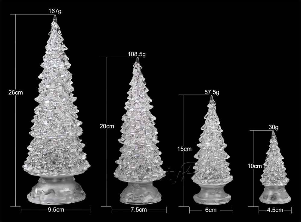 Wholesale Colorful Led Flashing Christmas Plastic Tree