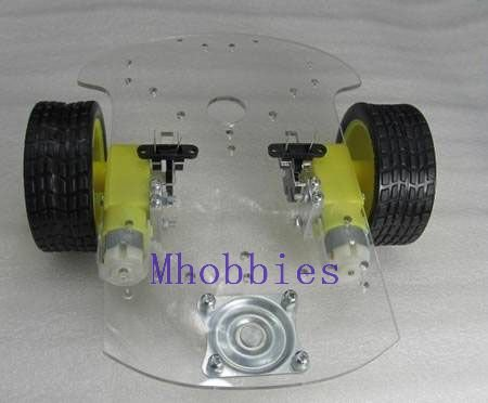 Free shipping Programmable robot chassis 2WD robot Mobile platform with code disc and trough type photoelectric