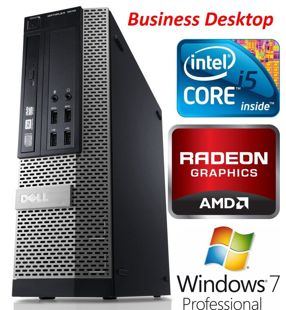 Dell Optiplex 7010 SFF Premium Business Desktop PC, Intel Quad Core i5 Processor, 8GB RAM, 128GB SSD, DVD+/-RW, AMD Radeon 7470 Graphics, Windows 7 Professional (Certified Refurbished)
