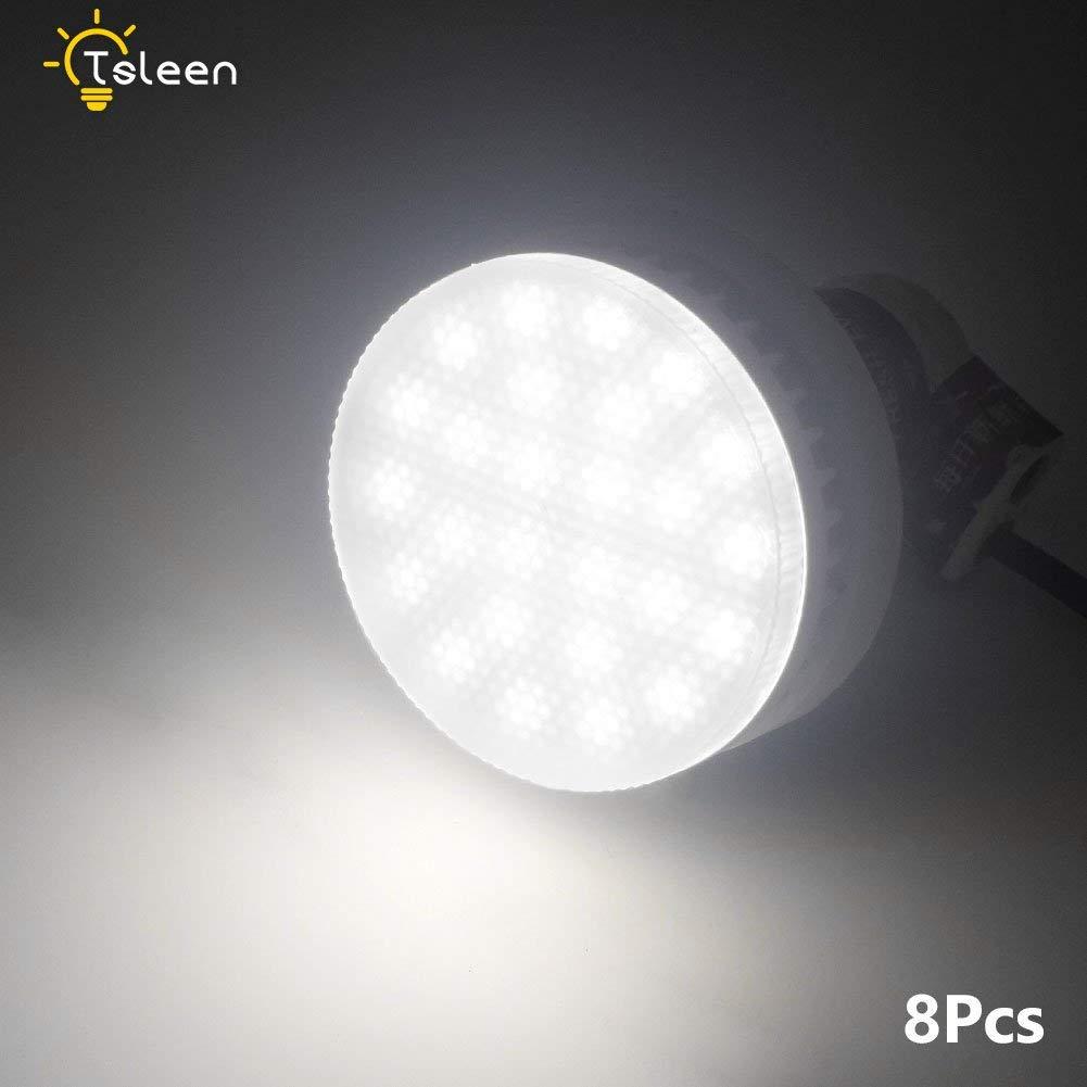 8Pcs GX53 LED Bulb 85-265V 7W Bright Lamp Cool White for Living Room Bedroom