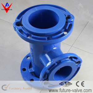 Epoxy Coated Ductile Iron Pipe Fitting PN10 PN16 PN25