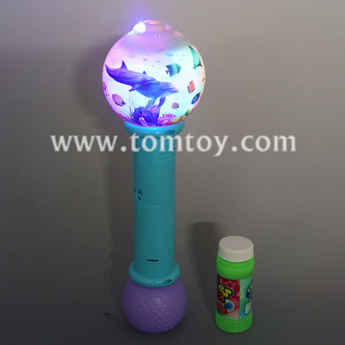Party Favor Sea World LED Light Up Bubble Wand with Sound