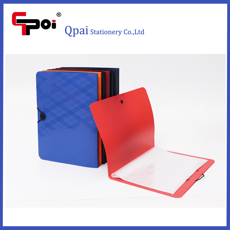 Custom ECO-Friend PP A4 20 Pockets Display Book With Elastic Protect Document Folder