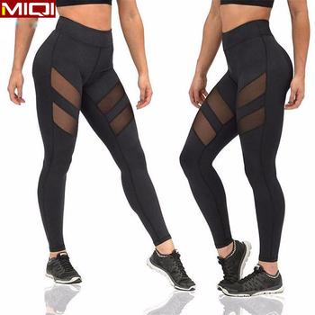 d1cc8a0032b9b Crop Pants Workout Mesh Leggings Brazilian Yoga Pants Womens Gym Leggings