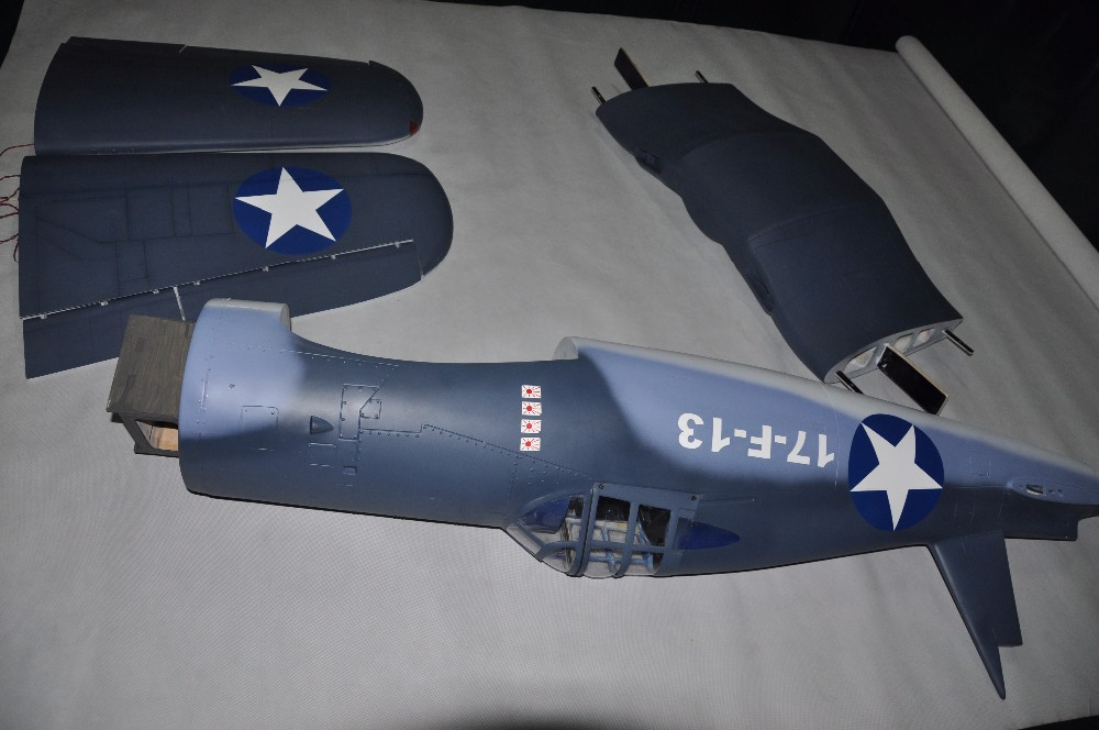 Rc Fiberglass Warbirds F4u Corsair 94