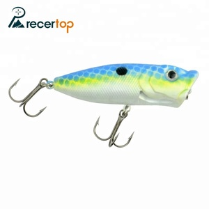 Wholesale fishing supply hard top water surface popper baits