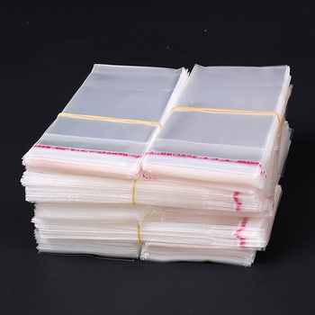 China Supplier Die Cut OPP Long Thin Size Self-Adhesive Plastic Bag