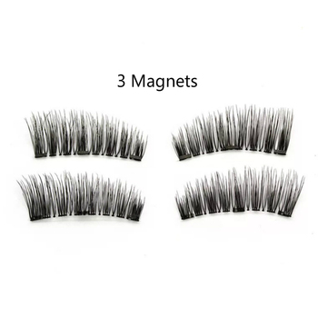 6c043cef57c Newest Types 3 Magnets Triple Magnetic False Eyelashes 0.2mm Ultra Thin 3D  Reusable Fake Lashes