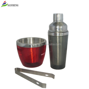 SANMENG stainless steel food grade promotional bar wine 500ml cocktail shaker set