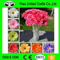 Decor 10Pcs Gerbera Flower Daisy Bouquet Silk Artificial Office Party Home