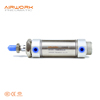 CM2 Stainless Steel Adjustable Stroke 13mm bore Small Mini micro Round pneumatic piston 25 mm stroke Air Cylinder
