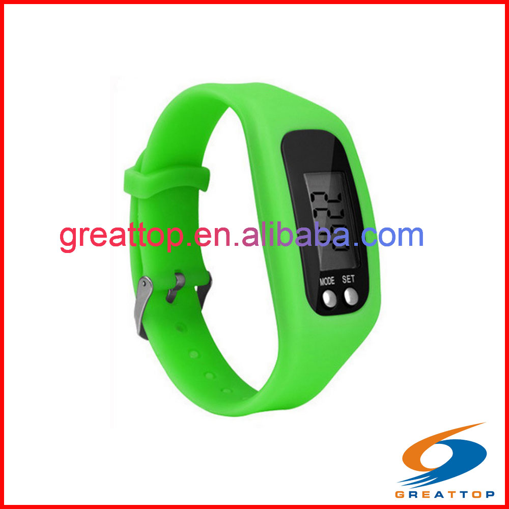Fashion-designed wristband pedometer for calculating step,calories with stopwatch