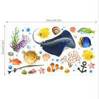 Fish Wall Baby Room Sticker Decals - Underwater Oceanic sea creatur wall decor stickers