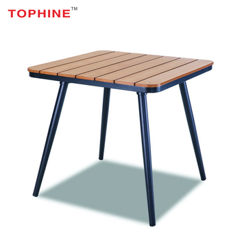 Commercial Contract Tophine Furniture Modern Aluminium Legs Plastic Wood  Outdoor Dining Table - Buy Outdoor Table,Outdoor Dining Table,Modern Wood  ...