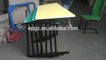 New Design Stackable School Single Desk and Chair usd Student Desk and Chair Single Set Stacking