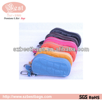 many colors car key leather fob cover cases
