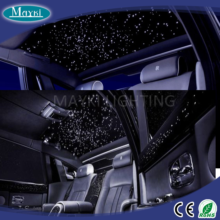 Fiber Optic Light Kit For Car Decoration With 6w Rgb Source Pmma Harness Remote Control Led
