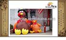 THANKSGIVING INFLATABLE TURKEY WITH PILGRIM HAT