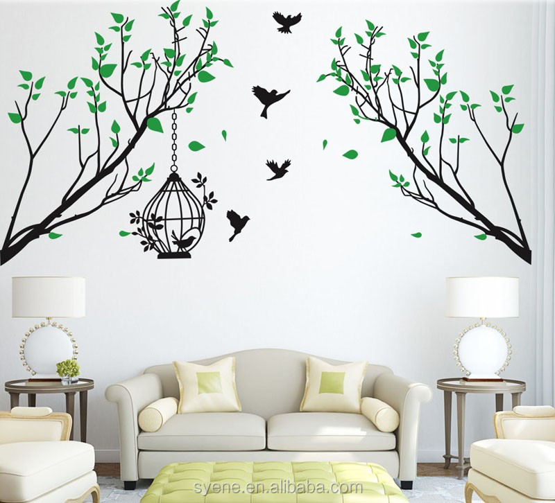 Newest 3d Wall Sticker Sakura Tree Art Vinyl Mural Flower Giant Huge Large  Tree Wall Decoration Part 92