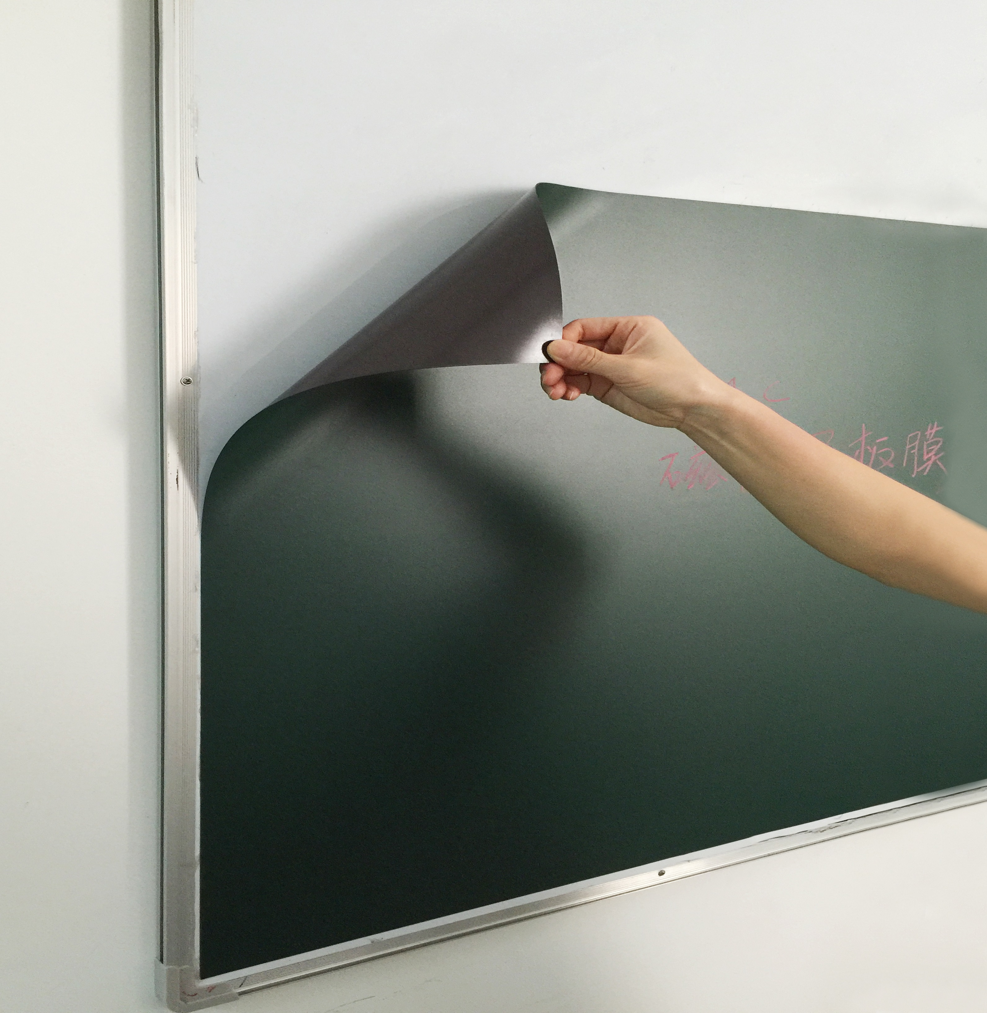 Magnetic greenboard write by Chalk