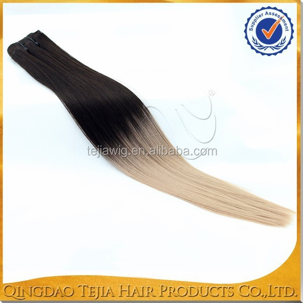 China Qingdao factory futura heat resistant ombre color synthetic hair