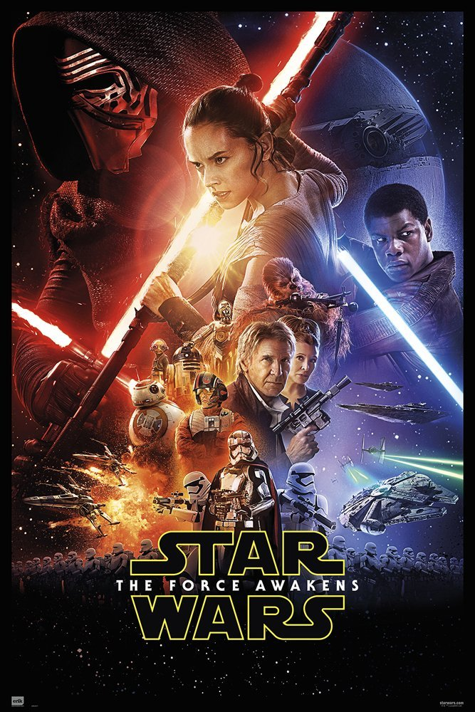 """Star Wars: Episode VII - The Force Awakens - Movie Poster / Print (Regular Style) (Size: 27"""" x 40"""") (By POSTER STOP ONLINE)"""