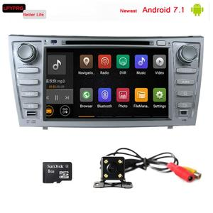 android 7.1 car gps navi dvd Multimedia player for toyota camry steering wheel audio control switch