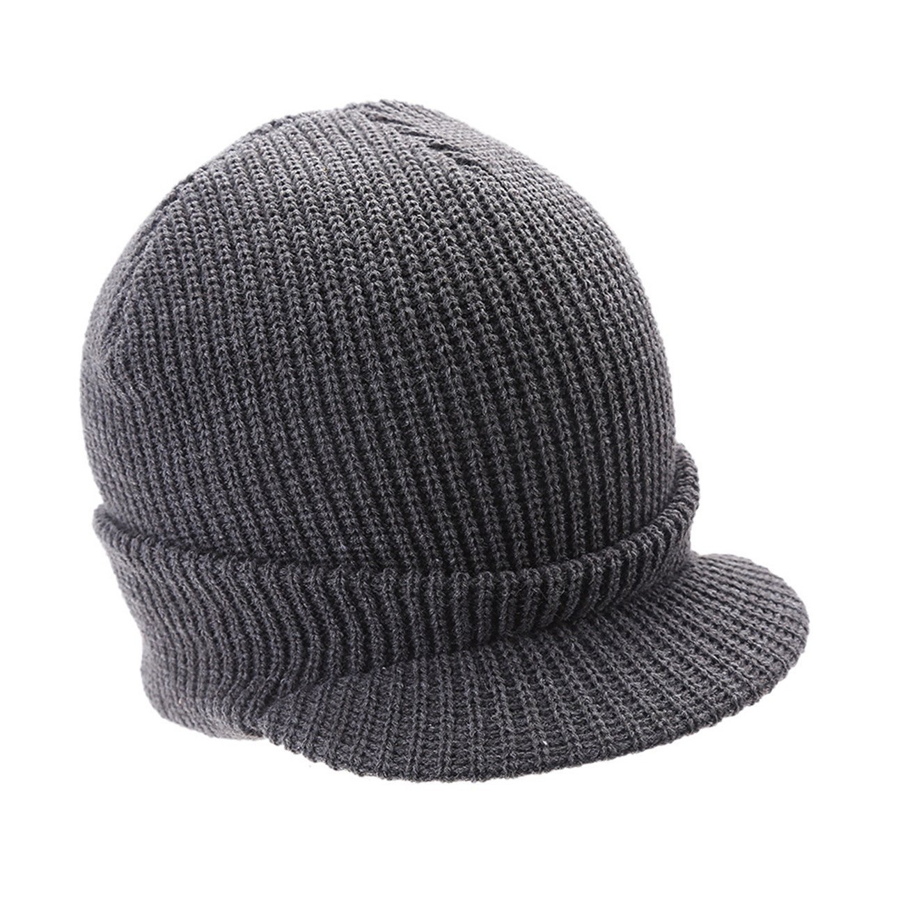 c87e80992df Get Quotations · Leories Winter Knitted Hat Windproof Cap Outdoor Warm  Earflap Hat with Visor