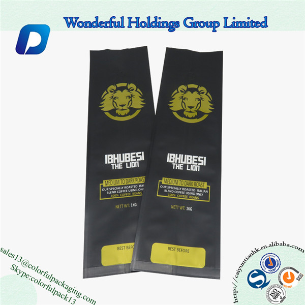 Product Showcase Coffee Packaging Bag With Valve 5lb 2 Oz Bags