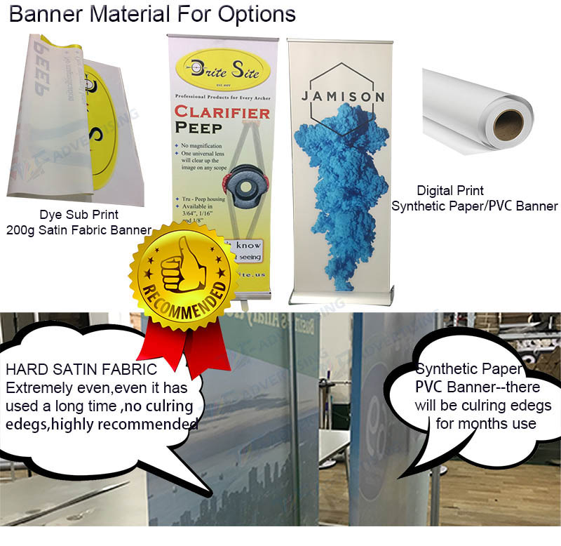 High quality aluminum pull up banner stand