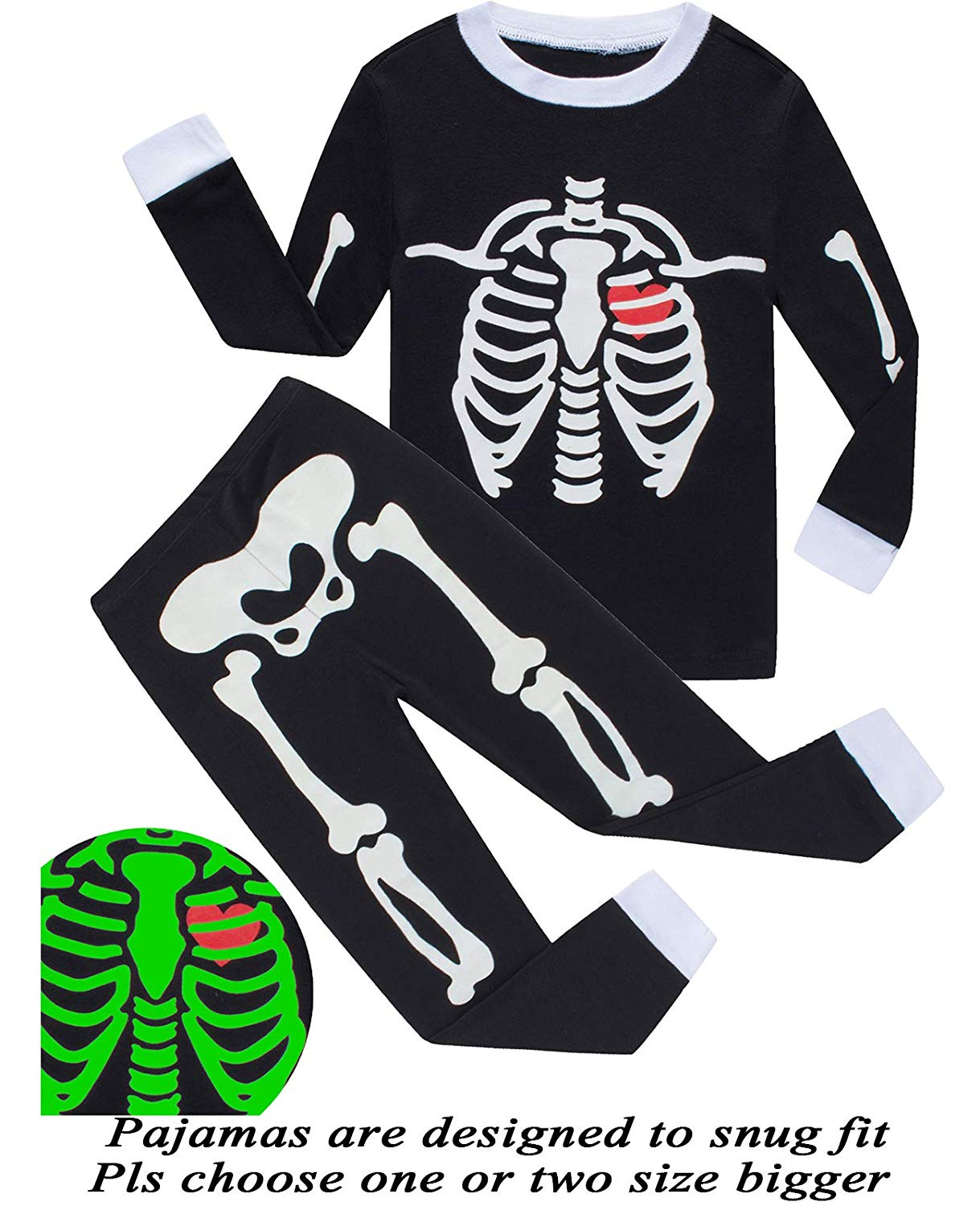 b316dd4550e Get Quotations · Dolphin Fish Boys Halloween Pajamas Kids Skeleton Pjs  Toddler Sleepwear Halloween Clothes