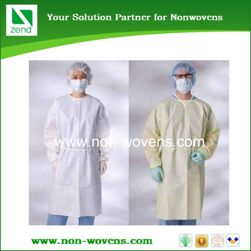 sterile disposable surgical nonwoven dressing gown