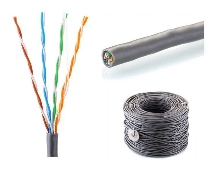 Bare Copper Yellow/blue/grey Color Coaxial Cable/ Electric Wire/lan ...