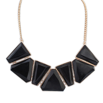 Black Resin Jewelry Famous Designer African Latest Diamond Necklace