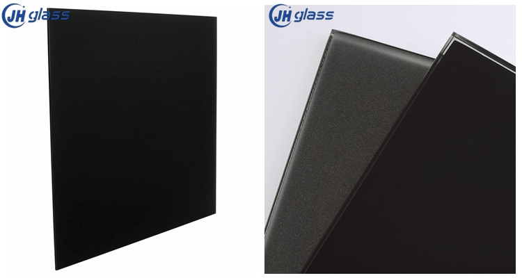 4mm black colored back painted glass for wall furniture decoration