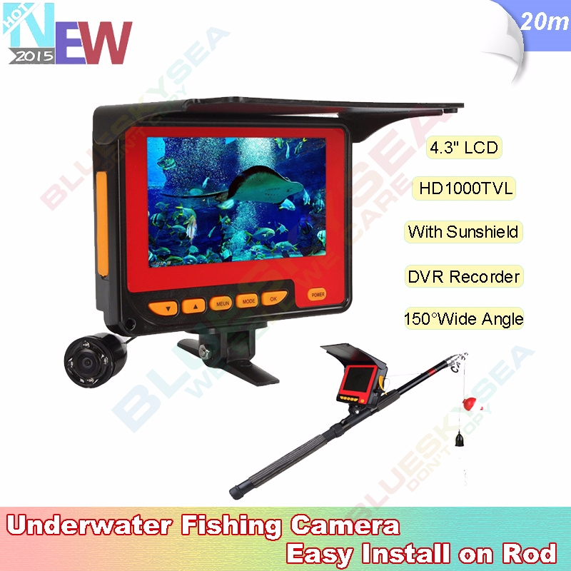 "4.3"" Monitor+20m 1000TVL HD Underwater Camera+Video Recorder DVR Fish Finder"