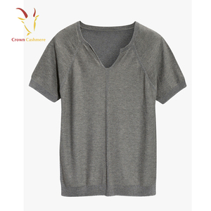 Ladies Cashmere T Shirt Half Sleeve Cashmere Sweater