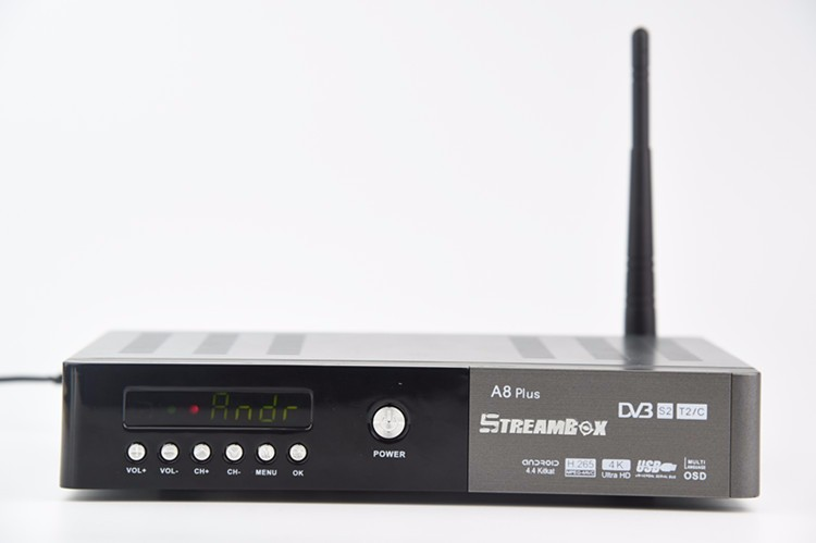 Streambox a8 4K iptv google 1080p dvb t2 android <strong>tv</strong> <strong>tuner</strong> dvb-s2 dvb-t2&c iptv <strong>set</strong> <strong>top</strong> box manufacturers