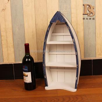 Barca scaffale Barca di Legno Mensola Nave Decorazione